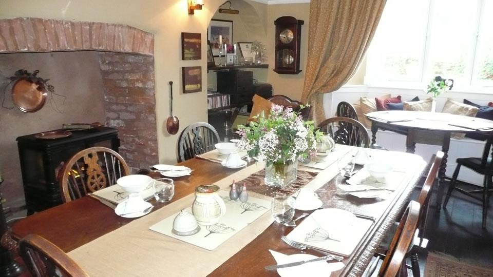 Farmhouse ready for guests breakfasts
